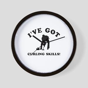 I've got Curling skills Wall Clock