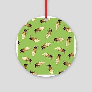 Cicada Pattern Ornament (Round)