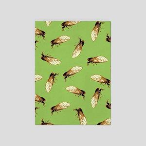 Cicada Pattern 5'x7'Area Rug