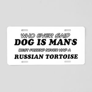 Funny Russian Tortoise designs Aluminum License Pl
