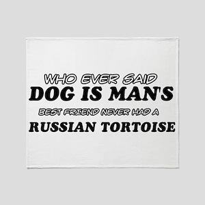 Funny Russian Tortoise designs Throw Blanket