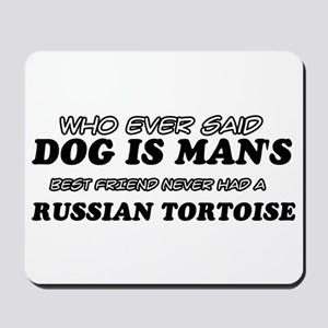 Funny Russian Tortoise designs Mousepad