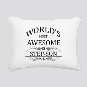 World's Most Awesome Step-Son Rectangular Canvas P