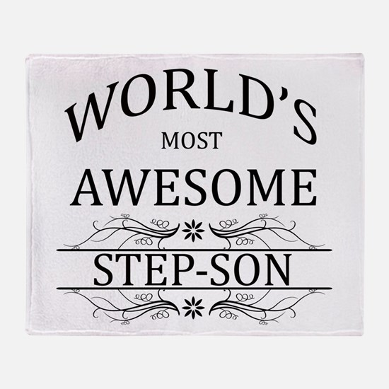 World's Most Awesome Step-Son Throw Blanket