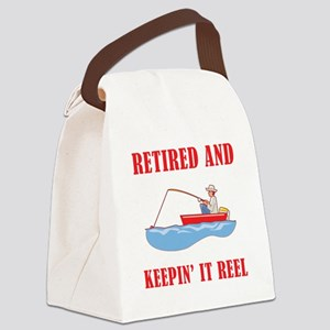 Funny Fishing Retirement Canvas Lunch Bag