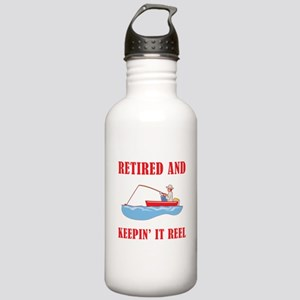 Funny Fishing Retirement Stainless Water Bottle 1.