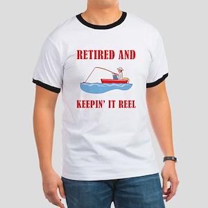 Funny Fishing Retirement Ringer T