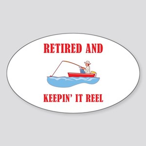 Funny Fishing Retirement Sticker (Oval)