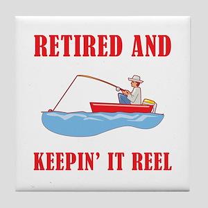 Funny Fishing Retirement Tile Coaster