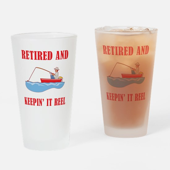 Funny Fishing Retirement Drinking Glass