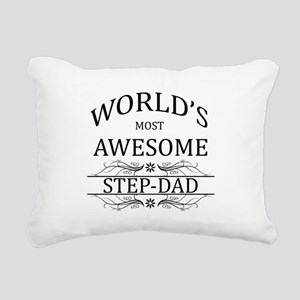 World's Most Awesome Step-Dad Rectangular Canvas P