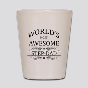 World's Most Awesome Step-Dad Shot Glass