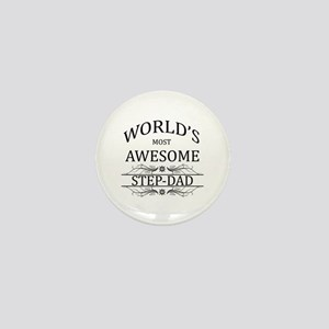 World's Most Awesome Step-Dad Mini Button