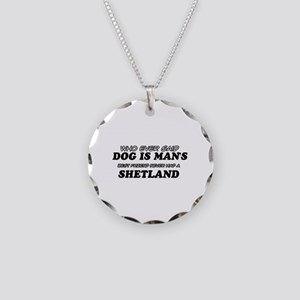 Funny Shetland designs Necklace Circle Charm