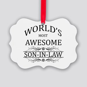 World's Most Awesome Son-in-Law Picture Ornament