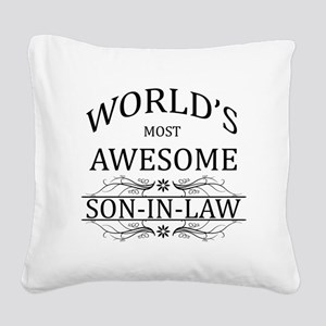 World's Most Awesome Son-in-Law Square Canvas Pill