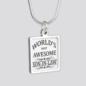 World's Most Awesome Son-in-Law Silver Square Neck