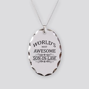 World's Most Awesome Son-in-Law Necklace Oval Char
