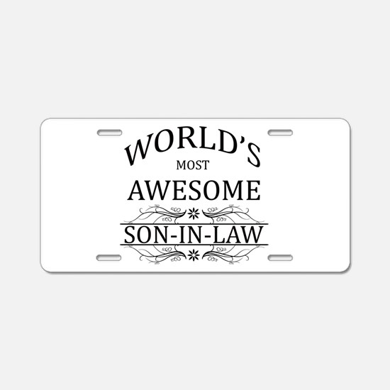 World's Most Awesome Son-in-Law Aluminum License P