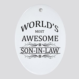 World's Most Awesome Son-in-Law Ornament (Oval)