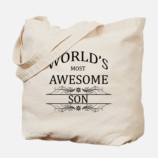 World's Most Awesome Son Tote Bag