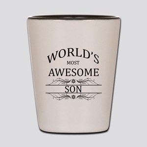 World's Most Awesome Son Shot Glass