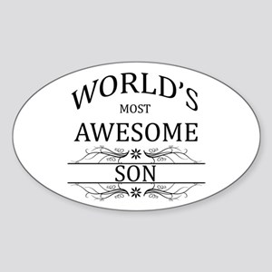World's Most Awesome Son Sticker (Oval)