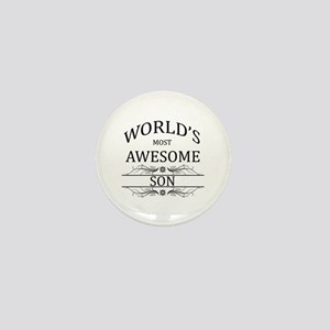 World's Most Awesome Son Mini Button