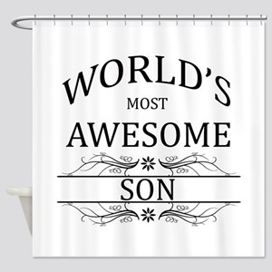 World's Most Awesome Son Shower Curtain