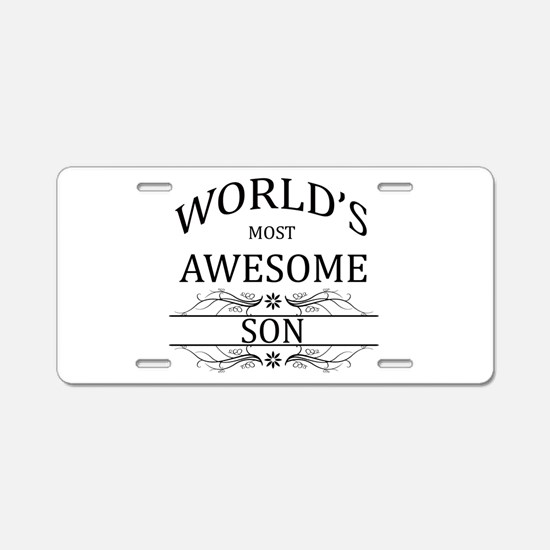 World's Most Awesome Son Aluminum License Plate