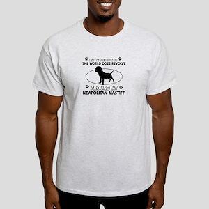 Neapolitan Mastiff Dog breed designs Light T-Shirt