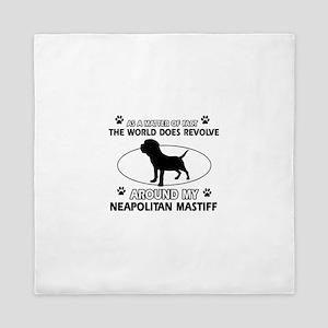 Neapolitan Mastiff Dog breed designs Queen Duvet