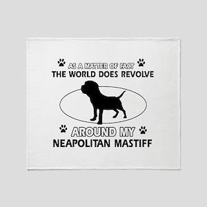Neapolitan Mastiff Dog breed designs Throw Blanket