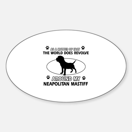 Neapolitan Mastiff Dog breed designs Decal