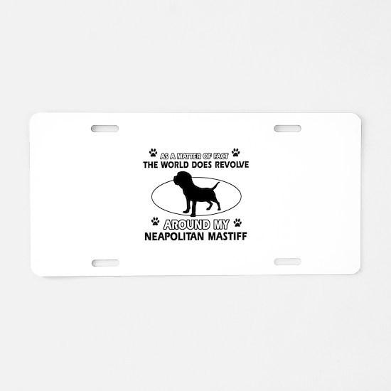 Neapolitan Mastiff Dog breed designs Aluminum Lice