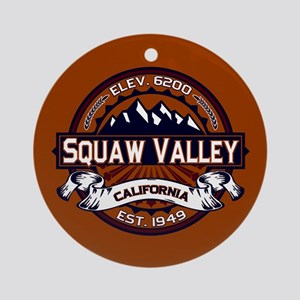 Squaw Valley Vibrant Ornament (Round)