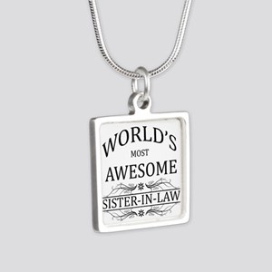 World's Most Awesome Sister-in-Law Silver Square N