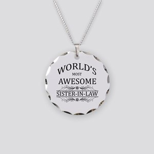 World's Most Awesome Sister-in-Law Necklace Circle