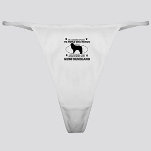 NewFoundland Dog breed designs Classic Thong