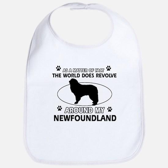 NewFoundland Dog breed designs Bib