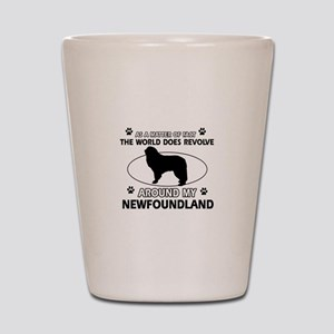 NewFoundland Dog breed designs Shot Glass