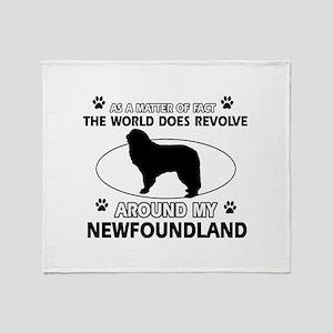 NewFoundland Dog breed designs Throw Blanket