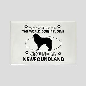 NewFoundland Dog breed designs Rectangle Magnet