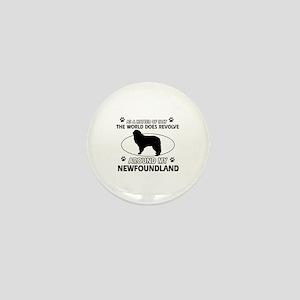 NewFoundland Dog breed designs Mini Button