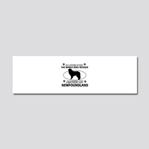 NewFoundland Dog breed designs Car Magnet 10 x 3