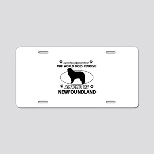 NewFoundland Dog breed designs Aluminum License Pl