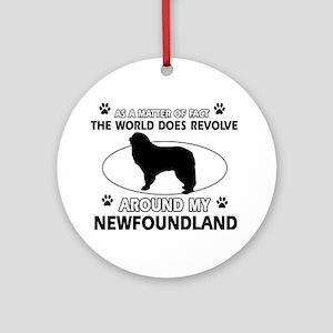 NewFoundland Dog breed designs Ornament (Round)