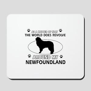 NewFoundland Dog breed designs Mousepad