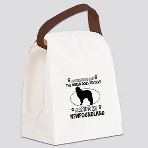 NewFoundland Dog breed designs Canvas Lunch Bag