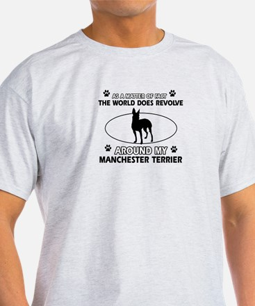 Manchester Terrier Dog breed designs T-Shirt